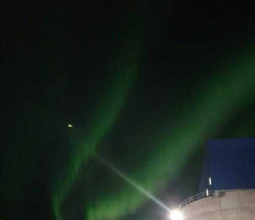 📷 This is the sky over Kiruna city tonight! It is a wonderful Aurora with kp 4 in strenght.  Early aurora borealis for the season.
